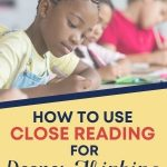 Close reading is active engagement with the text demonstrated by annotations that highlight important points. It's very useful for helping students better understand their reading. In this post, tips and resources are shared to help teachers with modeling.
