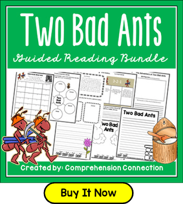 In this post, we focus on building word choice in writing featuring the book, Two Bad Ants. Check out this post for other mentor text recommendations for word choice.