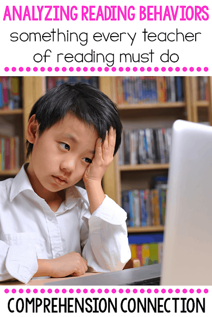 It's important to be observant with our students. Reading behaviors give us clues on intervention that may be needed. This post offers tips on what to watch for.