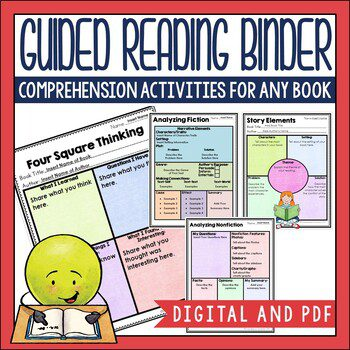 This resource includes 156 before/during/after activity pages you can use in PDF and Digital formats for guided reading. They work well for engagement, comprehension practice during reading, and writing extension. In my opinion, it's a must-have for the busy teacher.