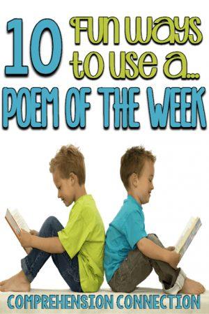 No matter what grade you teach, poetry can be used to support all levels of readers. Poems can be read in a short amount of time and used simply for enjoyment or for deeper literacy skills. This post offers simple ways you can incorporate poetry every single week with poem of the week plans.