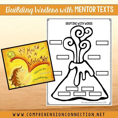 In this mentor text lesson using the book, My Mouth is a Volcano, students will work on word choice in descriptive writing. This post is part of a link up of mentor text writing lessons.