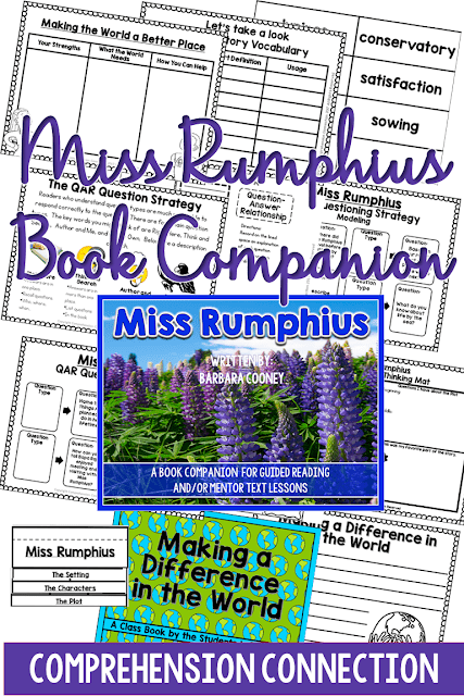One great strategy for helping students with testing is QAR. QAR stands for Question-Answer Relationship. This post explains it all using the book, Miss Rumphius.