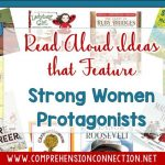 This month honors strong women in history, and I thought I'd share a collection of books that have strong female protagonists and/or books that showcase the lives of strong women. This post includes book recommendations and activity ideas.