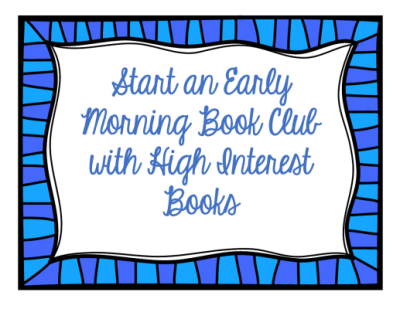 Early Morning Book Club was a very useful strategy for author, Jeff Gunhus. This post includes ideas to help you get started.