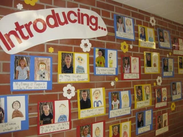 Love this display for Back to School