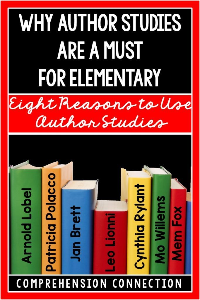 Author studies are much more than story time. They help us make comparisons across texts, study theme, expose students to rich literature, and so much more. Check out this post on why you should feature an author a month.