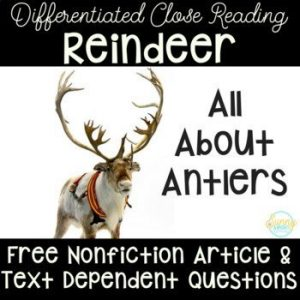 December is here, and this is the perfect time to explore reindeer. Believe it or not, there are TONS of learning options that can make a reindeer theme deep and meaningful. Check out this reindeer themed post for ideas to get your started.