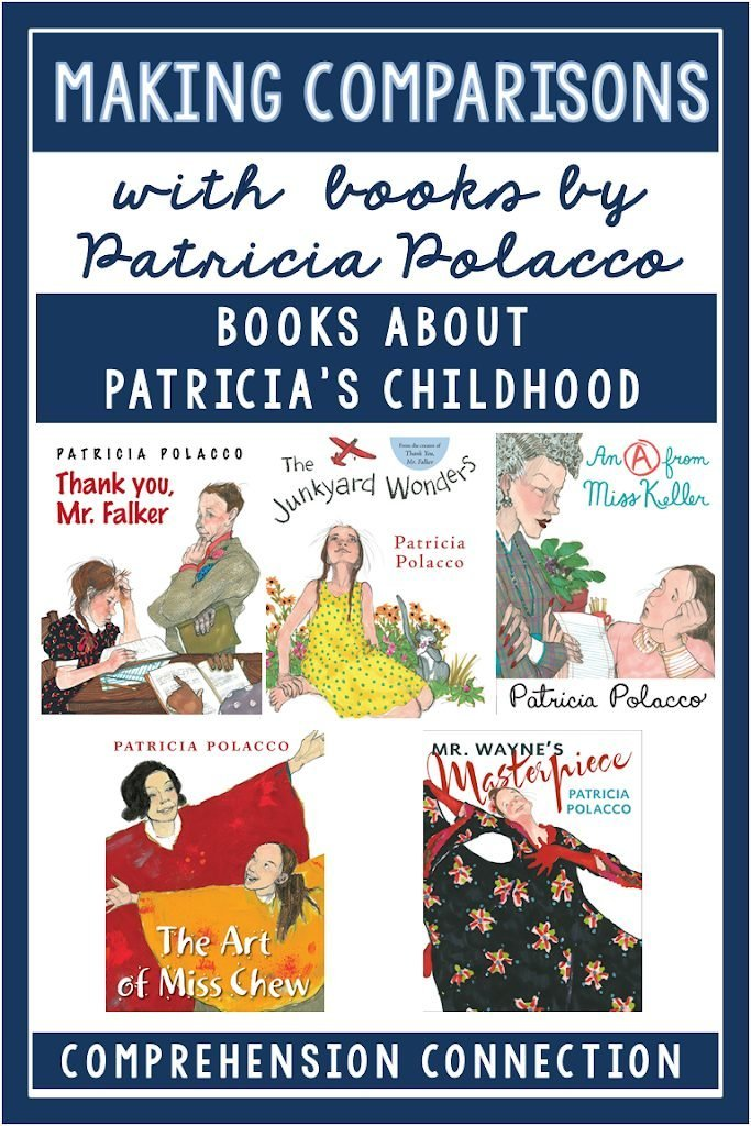 Making comparisons across texts starts with great book choices. Comparing books with the same genre such as different versions of Cinderella or The Three Little Pigs work well. You can also compare books by the same author such as my favorite, Patricia Polacco. Check out this post for lesson ideas and resources you can use.