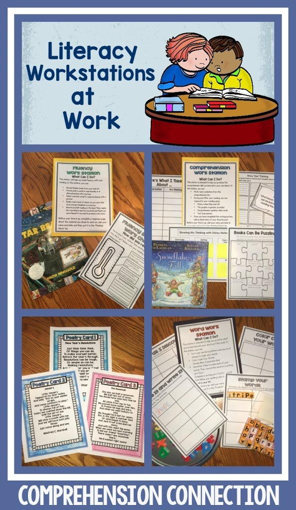 Literacy work stations can offer opportunities for your students to practice independently with purposeful activities. They can keep your kids engaged to allow you to work with small groups. Finally, they provide you with the data you need to gauge progress. This post offers tips to make work stations easy and purposeful.