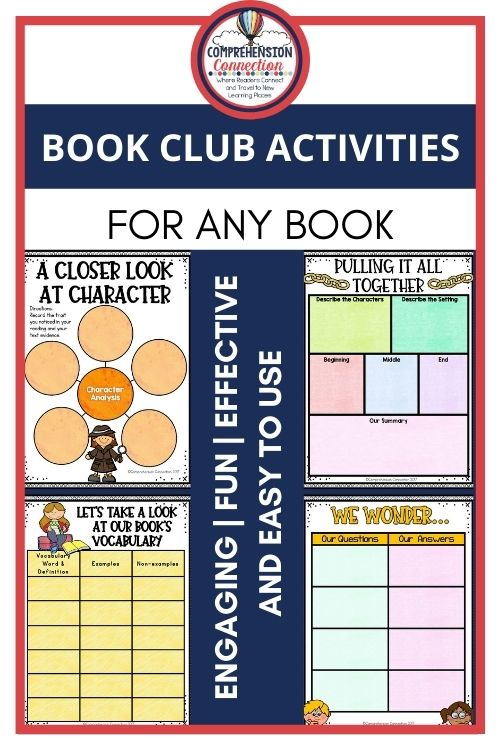 I'd love to share my Book Clubs Made Easy set. It can be used with any book with grades 2-5. It includes both digital and pdf options for all settings. Each page can be assigned to a different group member.
