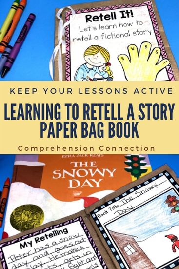 Need a fun and engaging way to practice story retelling? This paper bag book includes modeling and practice that's unique and fun.
