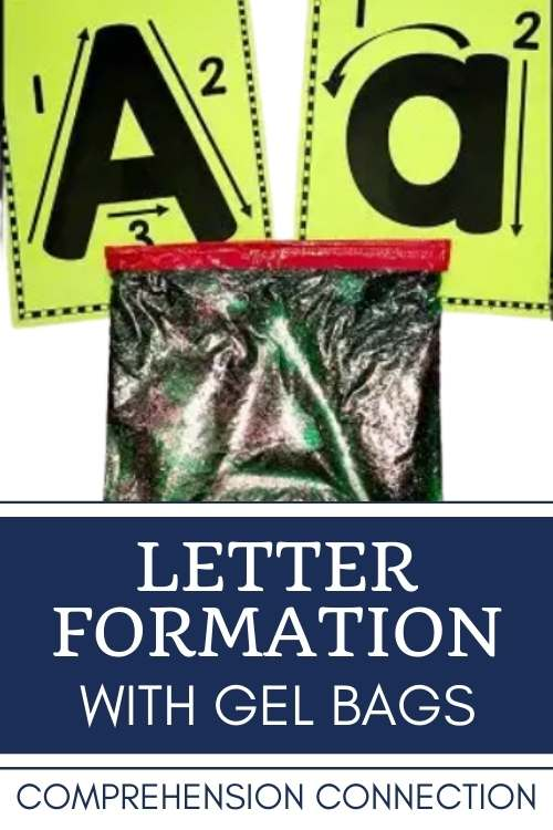 Keep letter formation practice tactile. Gel bags are easy to make and fun to use. These letter formation charts come with all of the alphabet paper bag books featured here.