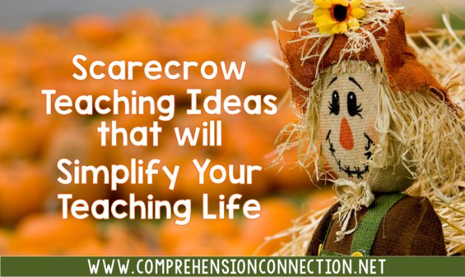 Nothing says fall like a scarecrow and haystacks. This post includes a large collection of teaching ideas and resources for a scarecrow theme. It includes many free options.