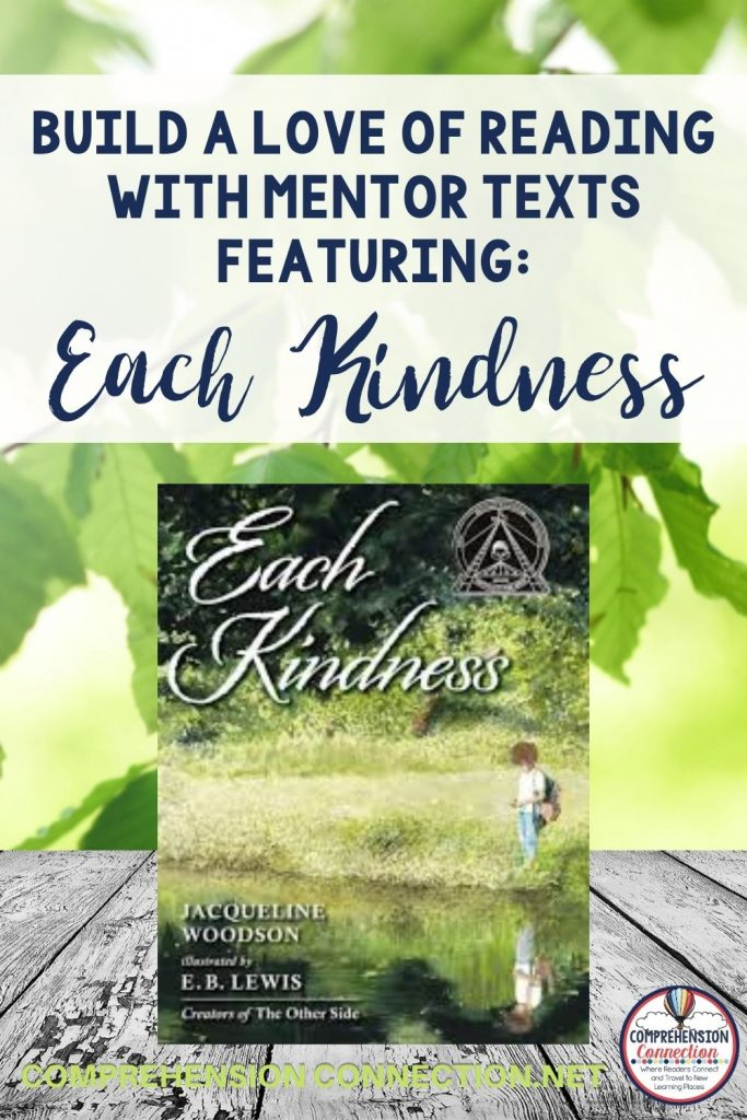 How we treat others matters, and one of the best ways to build character in the classroom is through literature. There are so many great books, and of all the picture books I've used for mentor text lessons, Each Kindness by Jacqueline Woodson is one of my favorites. This post includes a mentor text lesson about teaching theme. It includes four printable pages for the lesson.