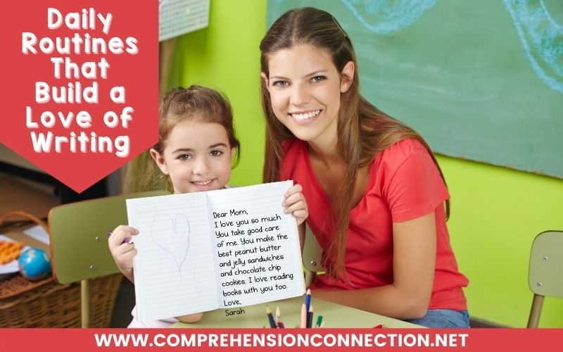 The reading-writing connection is significant in a student's literacy development. For many students, writing is a REAL struggle. In this post, suggestions of classroom routines that will help you and your students are shared.