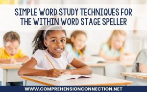Read more about the article Simple Word Study Techniques for the Within Word Stage Speller